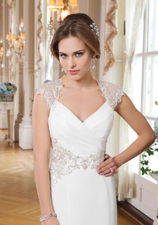 Lillian West Style 6340 Chiffon and Beaded Applique Dress