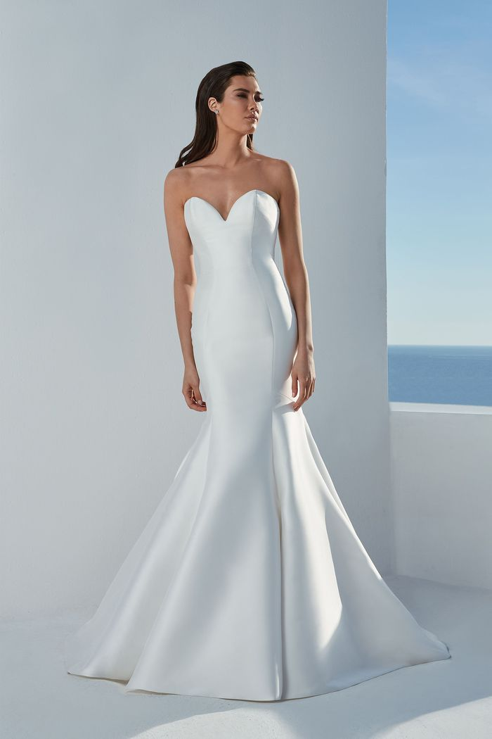 Justin Alexander Style 88171 Blaire Sweetheart Neckline Clean Mermaid Dress