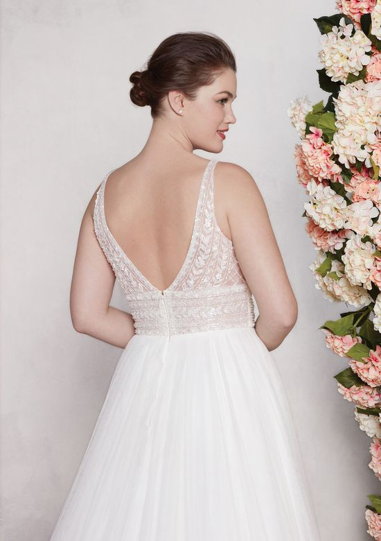 Sincerity Bridal Style 44120 English Net A-Line Dress with Beaded Bodice