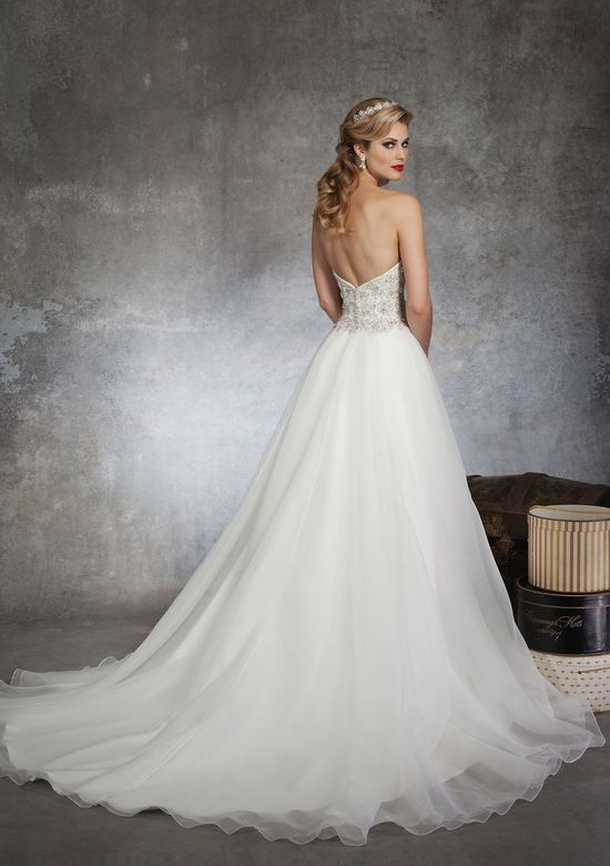 Justin Alexander Style 8670 Beading ball gown embellished by a sweetheart neckline