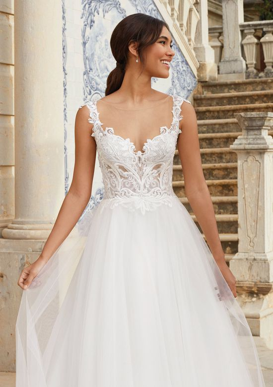 Sincerity Bridal Style 44168 Venice Lace and Sparkle Tulle Ball Gown