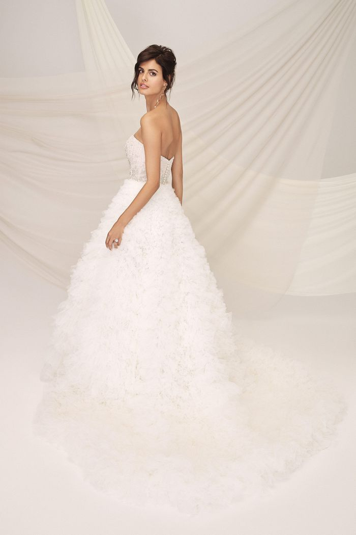 Justin Alexander Signature Style 99124 RICHMOND Fully Ruched Tulle Skirt Ball Gown with Sweetheart Beaded Bodice