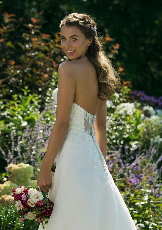 Sweetheart Gowns Style 11010 Sweetheart A-line Gown with Floral Detailed Bodice