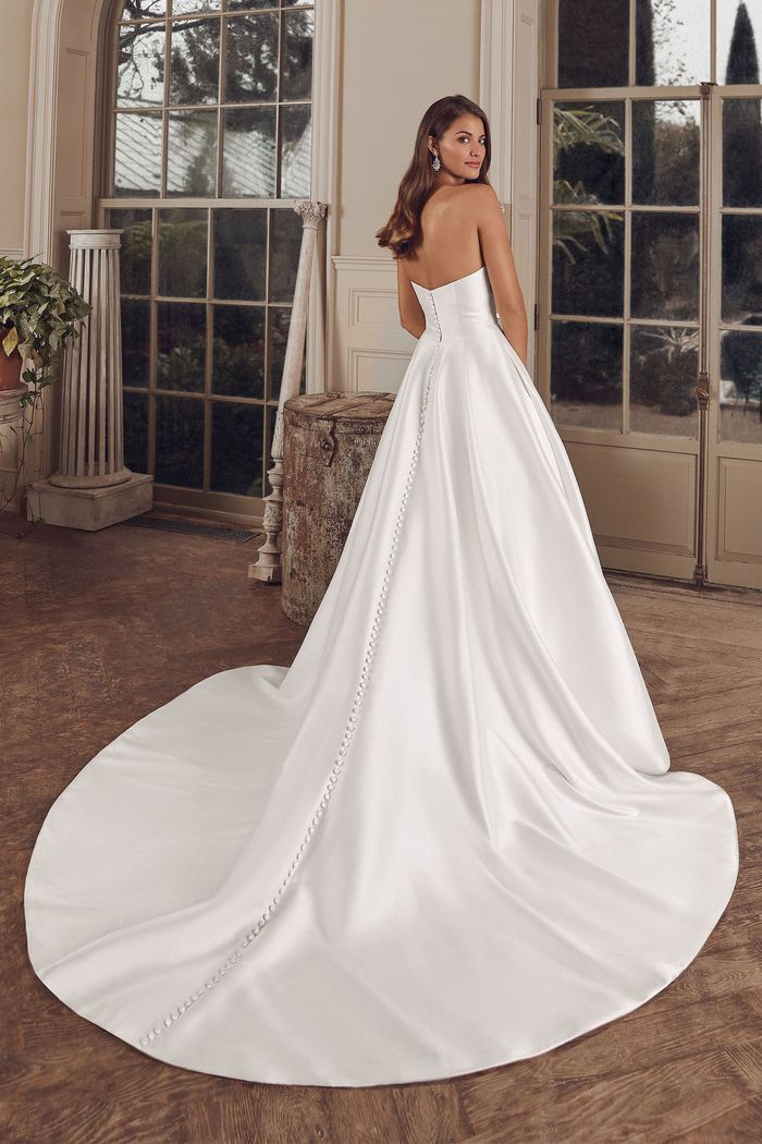 Justin Alexander Style 88144 Adela Clean Mikado Ball Gown with Pockets
