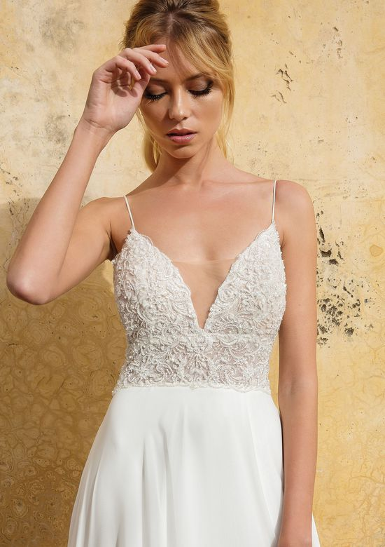 Justin Alexander Style 88035 Heavily Beaded Illusion Bikini Bodice A-line Gown