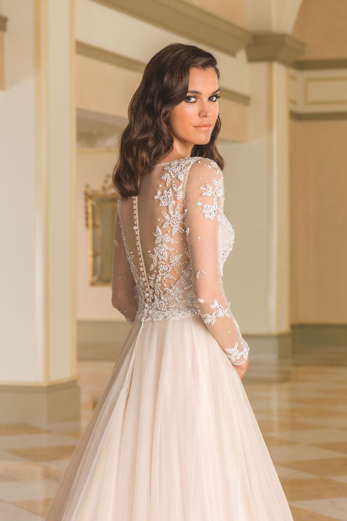 Justin Alexander Style 8873J Illusion Tulle Jacket with Beaded Embellishments