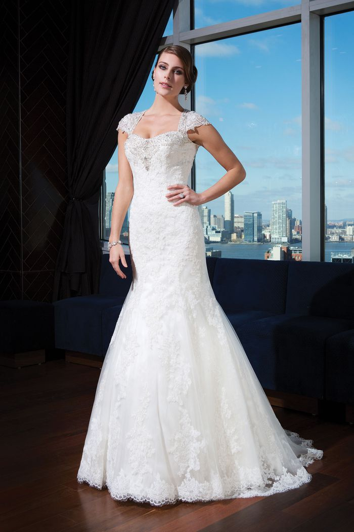 Justin Alexander Signature Style 9733 Tulle fit and flare dress complemented with a sweetheart neckline