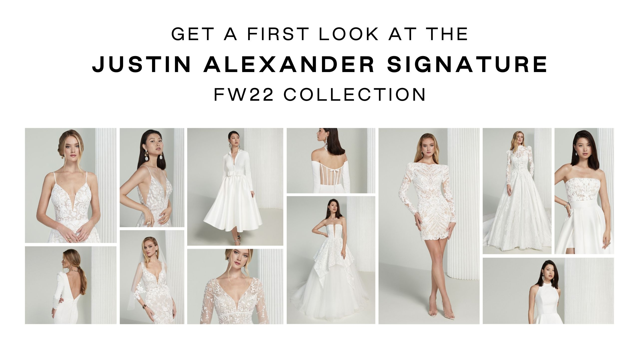 Get a first look at the Justin Alexander Signature FW22 Collection