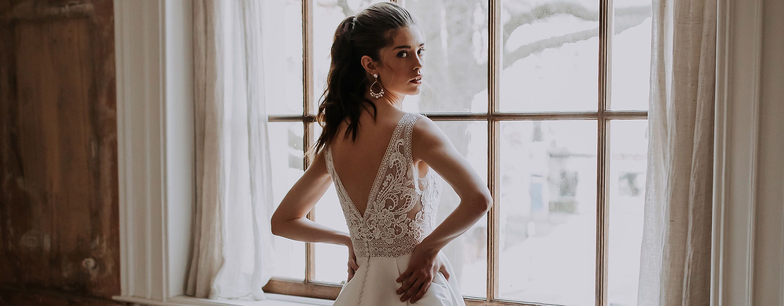 Adore by Justin Alexander Style 11215 Lana Plunging V-Neck Mikado A-Line Gown