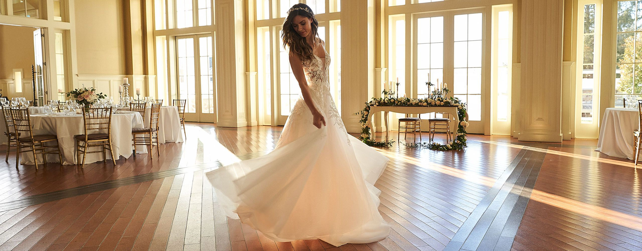 Sincerity Bridal Style 44300 Beaded Sparkle Tulle A-Line Gown with Illusion Back